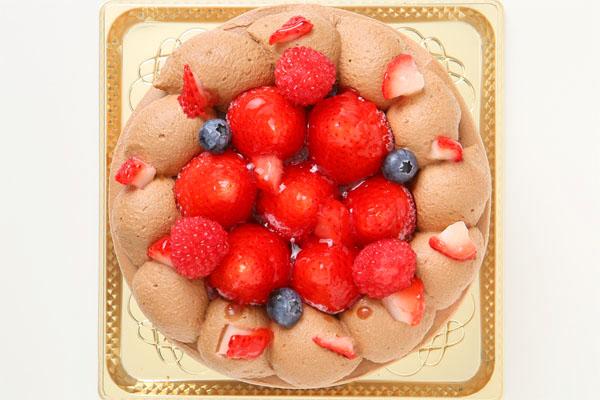 純生チョコクリームデコレーション 4号 12cmの画像2枚目