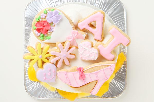 アイシングクッキーバースデーケーキ イラスト 4号 12cmの画像3枚目