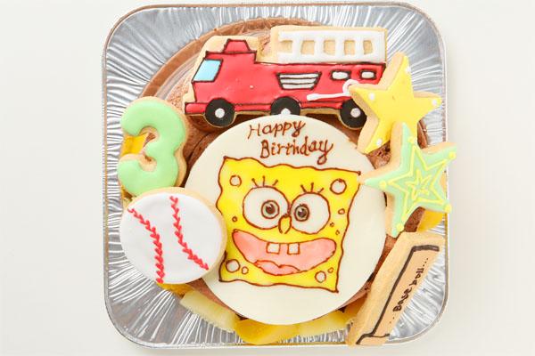 アイシングクッキーバースデーケーキ イラスト 4号 12cmの画像4枚目
