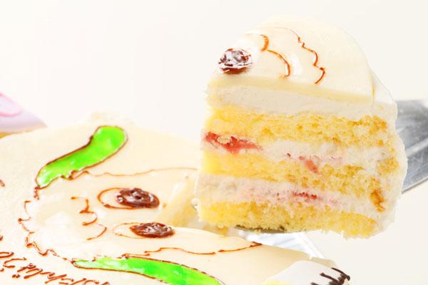 アイシングクッキーバースデーケーキ イラスト 4号 12cmの画像6枚目