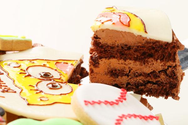 アイシングクッキーバースデーケーキ イラスト 4号 12cmの画像9枚目