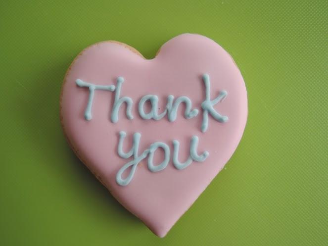 アイシングクッキー Thankyou:ピンクベース/水色ベース 10枚セット