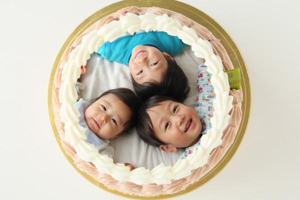 チョコクリームフォトケーキ 5号 15cmの画像1枚目