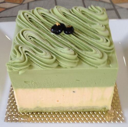 ヴェルデマーレ 〜ラテ緑色鮮やかな抹茶のアントルメグラッセ(アイスケーキ)〜 12cm(4~6人用)