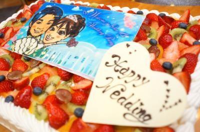 徳島県徳島市 限定配送 パーティー用大型ケーキ スクウェア 18×25cmの画像2枚目
