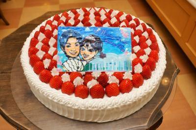 徳島県徳島市 限定配送 パーティー用大型ケーキ 丸型 8号 24cm