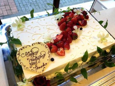 福島県郡山市・須賀川市・本宮市・三春近辺 配送限定 送料無料 パーティー用大型ケーキ 約40×55cm