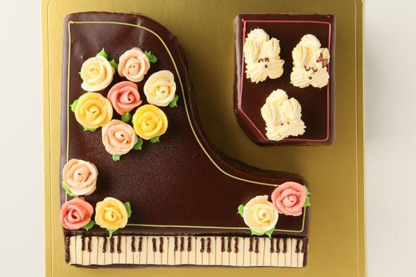 【1日限定2台!】グランドピアノ立体ケーキ 5号 15cmの画像2枚目