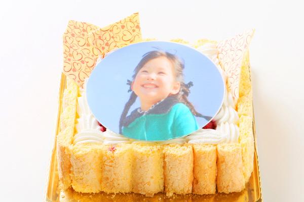 写真プレート付きレアチーズキャレフォトケーキ