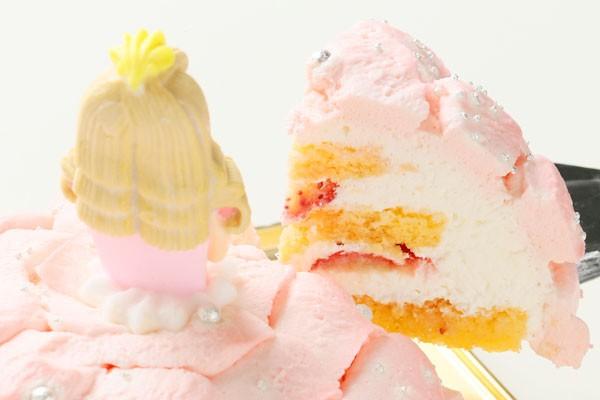 プリンセスケーキ「眠り姫」 5号15cm(ピンク)の画像3枚目