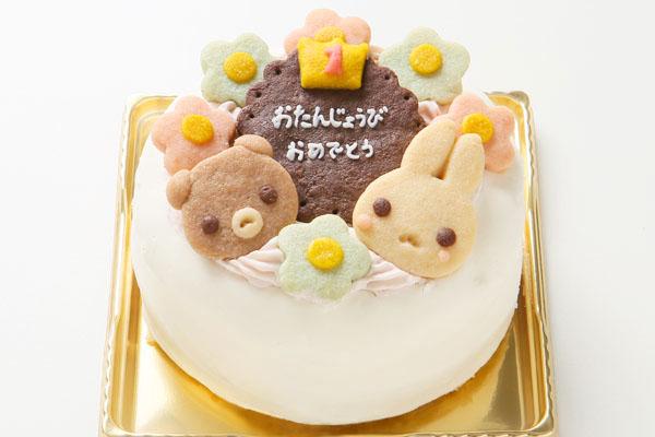 ファーストバースデーケーキ☆国産小麦粉と安心材料 4号 12cmの画像1枚目