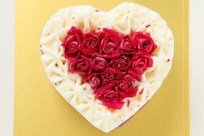 アイスケーキ ホワイトデーローズ エディブルフラワー食用花 バラ 10cm