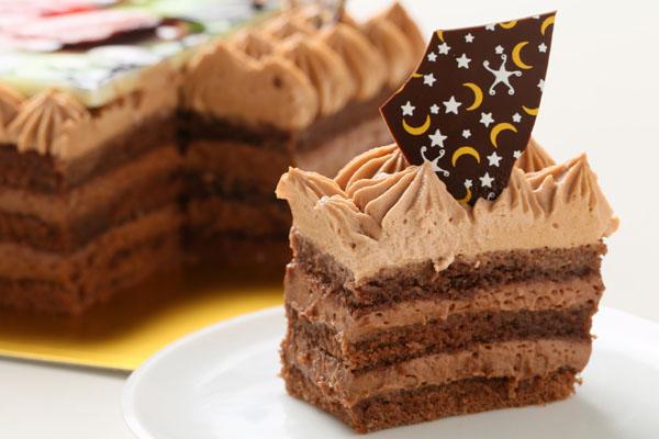 スクエア型フォトチョコ生クリームデコレーションケーキ 11cmの画像4枚目