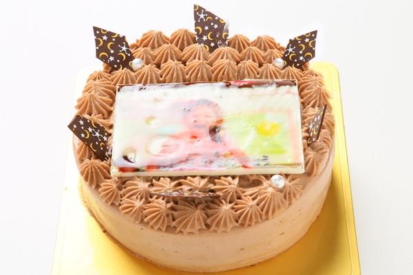 丸型フォトチョコ生クリームデコレーションケーキ4号の画像2枚目
