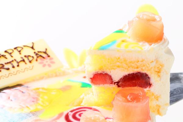 青森県産リンゴ使用!フォト生クリーム 5号 15cmの画像3枚目