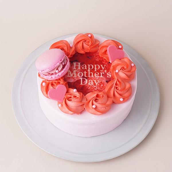 【母の日】レッドローズケーキ 5号 15cmの画像1枚目