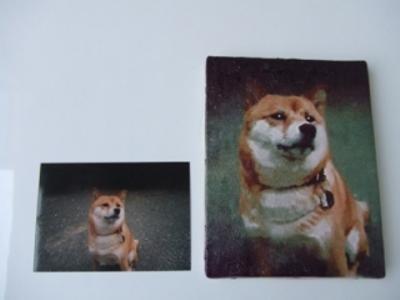 肖像画(キャンバス画のみ/額無し)F3号サイズ(275×220)【誕生日 バースデー ギフト 贈り物 プレゼント お祝い 一点物】の画像3枚目