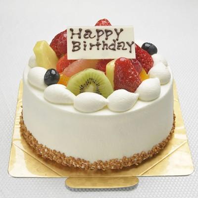 生クリームフルーツケーキ6号サイズ【5〜8名様用】【バースディ】【バースデーケーキ 誕生日ケーキ デコ】の画像1枚目