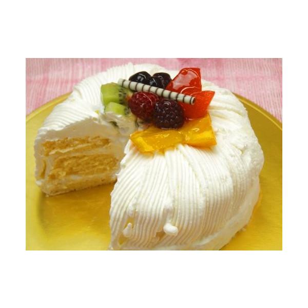 ふわふわシフォンケーキ〜フルーツ仕上げ 14cm