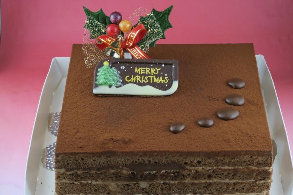 【クリスマスケーキ2016】高級クーベルチョコ使用☆カラク 一辺15cm四方
