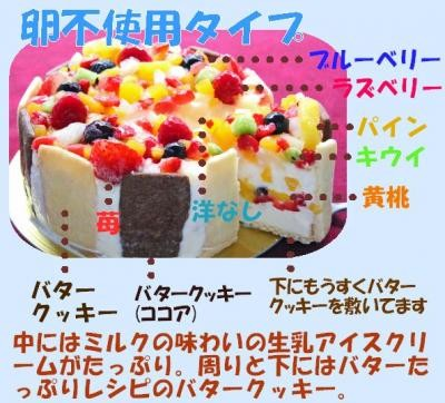 生乳アイスクリームフルーツアイスケーキ 6号 18cmの画像4枚目