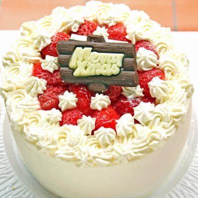 【クリスマスケーキ2016】クリスマス☆苺のデコレーションケーキ【4・5・6・7号サイズ選択】の画像1枚目