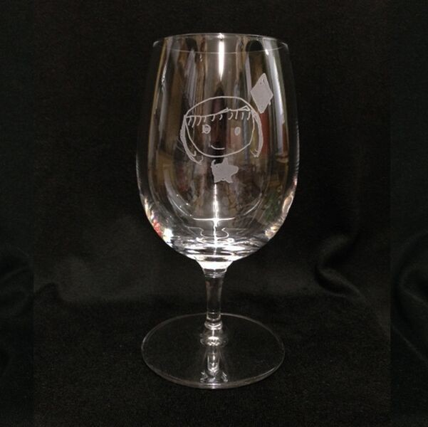 絵の入れられるグラス カジュアルワイングラス