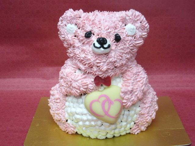 立体くまちゃんケーキ 高さ11cmの画像6枚目