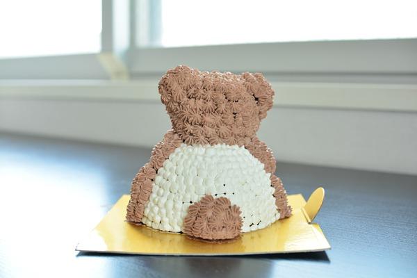 立体くまちゃんケーキ 高さ11cmの画像3枚目