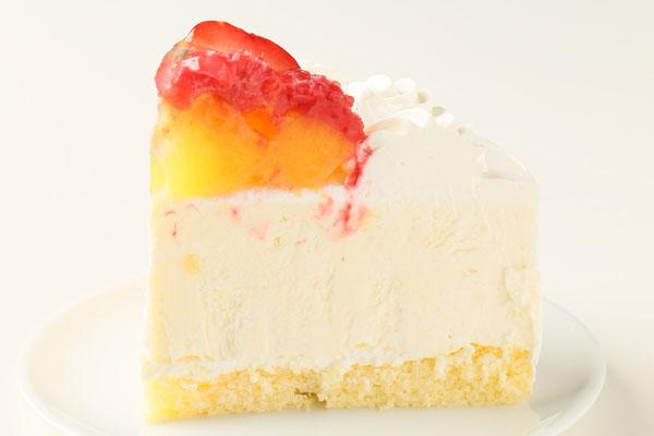 バニラカスタード風味のフルーツアイスデコレーションケーキ 5号 15cmの画像4枚目