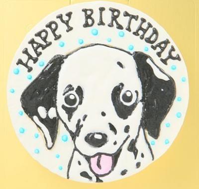わんちゃん用似顔絵入り豆乳ケーキ18cm【誕生日 デコ バースデー ケーキ】の画像3枚目