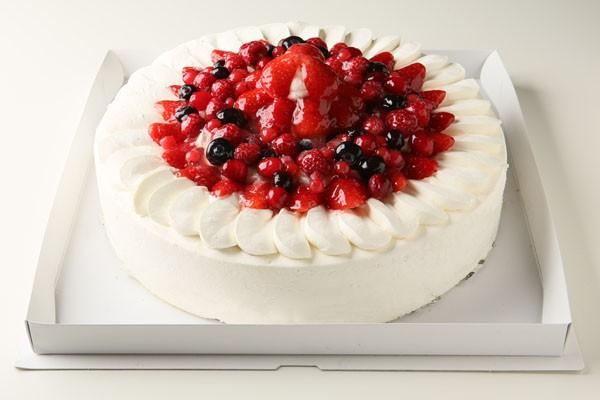 【神奈川県足柄下郡近辺 限定配送】【送料無料】パーティー用大型ケーキ イチゴデコレーション8号