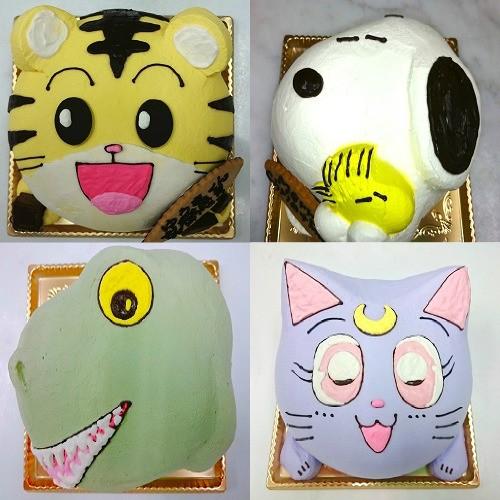 立体キャラクターデコレーションケーキ  5号 15cm