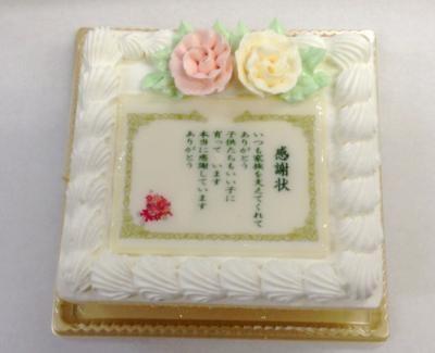 感謝状生クリームケーキ 約15cmx約14cm(高さ)約7cm