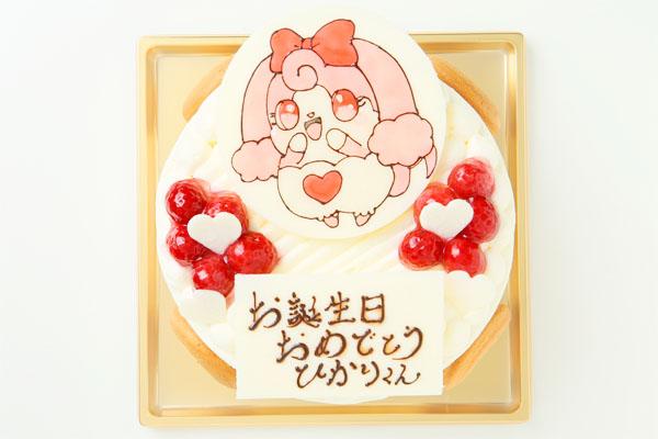 生クリームイラストケーキ 4号 12cmの画像2枚目