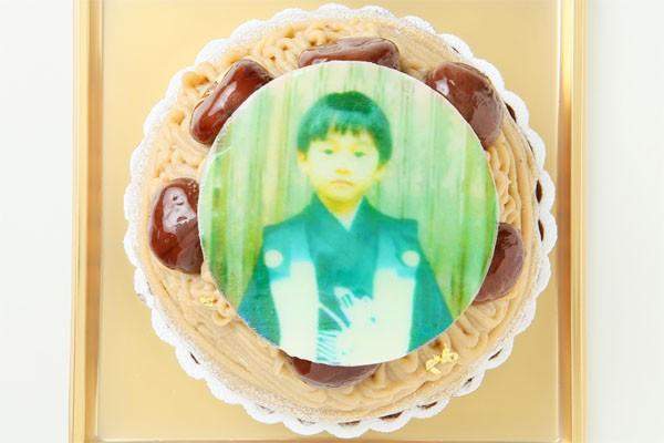 モンブランフォトケーキ  4号 12cmの画像2枚目