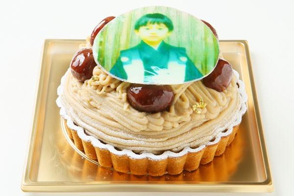 モンブランフォトケーキ  4号 12cmの画像1枚目