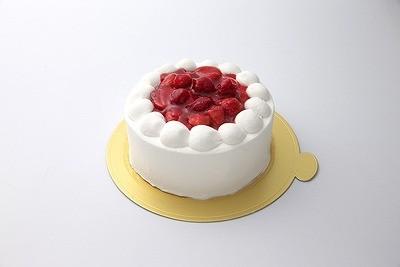卵・乳製品除去 アレルギー対応 苺デコレーションケーキ 4号