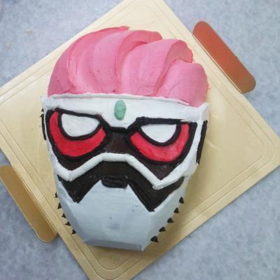 キャラクターケーキ仮面ライダーエグゼイド 5号 15cm