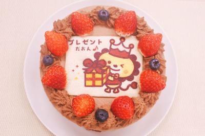カラーフォトケーキ 高級生チョコデコレーション 5号 15cmの画像1枚目