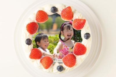 アレルギー対応カラーフォトケーキ