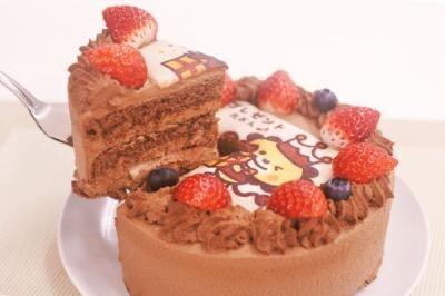 卵・乳製品・小麦粉除去 アレルギー対応カラーフォトケーキ チョコ 4号 12cmの画像2枚目