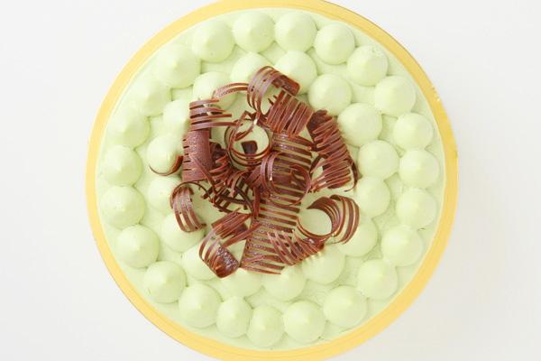 抹茶と小豆のホールケーキ 5号 15cmの画像2枚目
