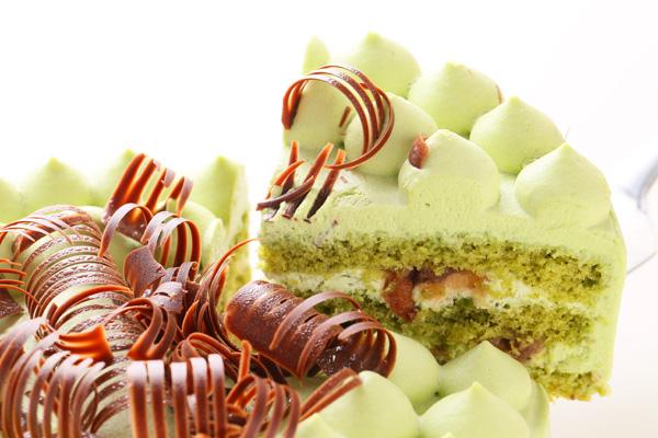 抹茶と小豆のホールケーキ 5号 15cmの画像3枚目