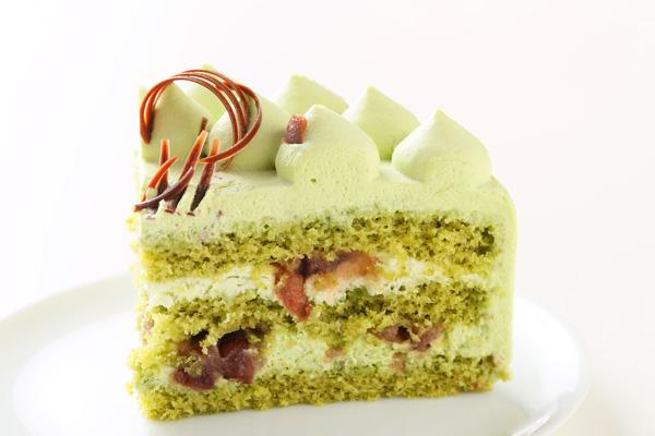 抹茶と小豆のホールケーキ 5号 15cmの画像4枚目