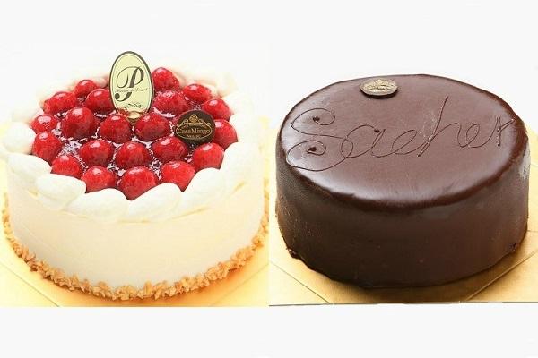 最高級洋菓子 シュス木苺レアチーズケーキ 15cm & ウィーンの銘菓ザッハトルテ 12cm セット