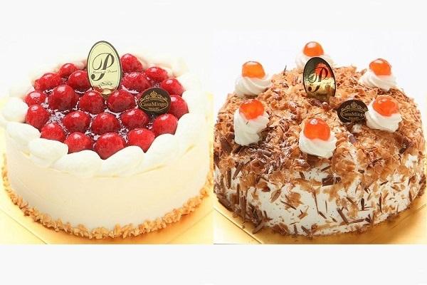 最高級洋菓子 シュヴァルツベルダーキルシュトルテ 15cm & シュス木苺レアチーズケーキ 15cm セットの画像1枚目