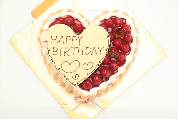 最高級洋菓子 特注ハート型シュス木苺レアチーズケーキ 30cmの画像5枚目