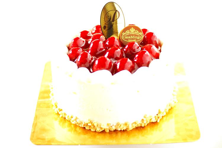 最高級洋菓子 シュス木苺レアチーズケーキ12cm【メッセージプレートなし】の画像1枚目