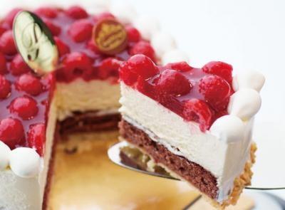 最高級洋菓子 シュス木苺レアチーズケーキ20cmの画像2枚目